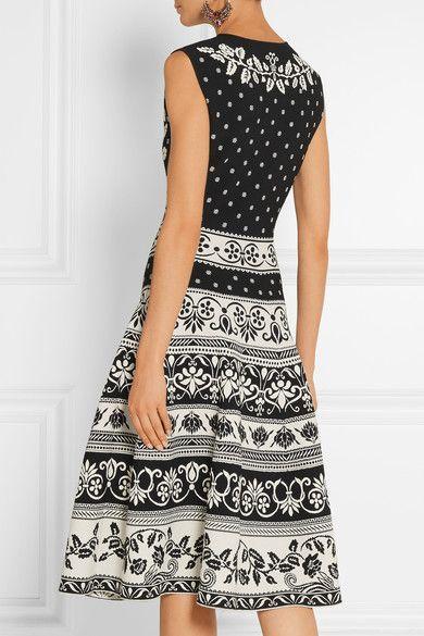 Alexander McQueen - Stretch Jacquard-knit Dress - Black -