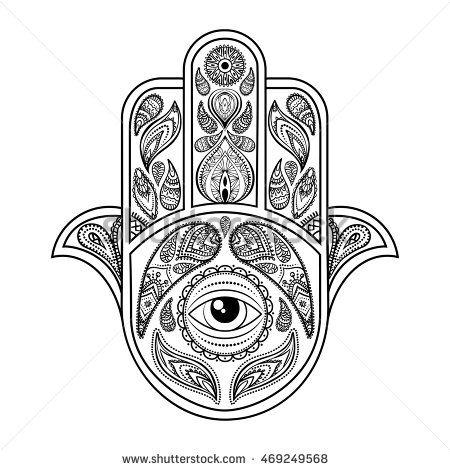 Hand drawn hamsa, vector
