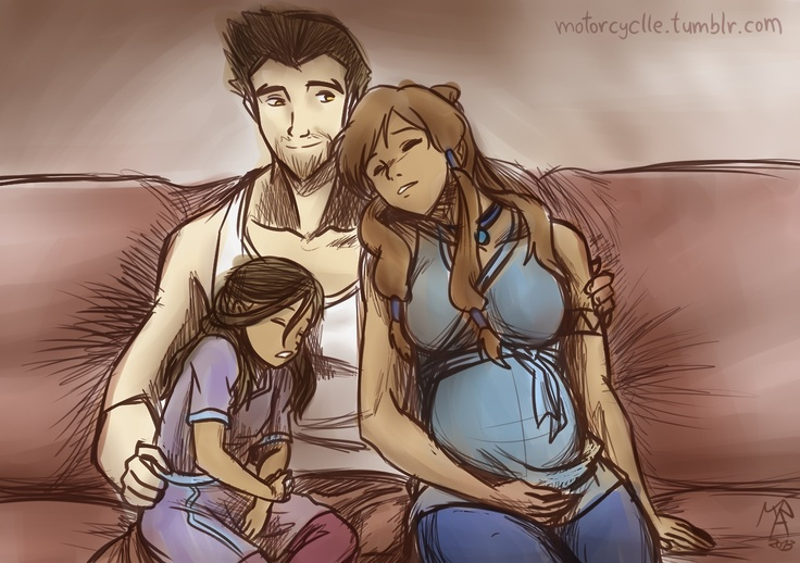 Makorra family... i don't ship it, but this is cute :)