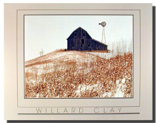 The charming visual of winter country old barn Willard clay landscape art print poster will give your space a touch of vibrant charm and a hint of tranquil elegance. This wonderful poster will not only bring a dash of graceful vivacity to your home decor, but will also accentuate its aesthetic appeal. This poster delivers a sharp vivid image with a high degree of color accuracy. Order today and enjoy your surroundings!