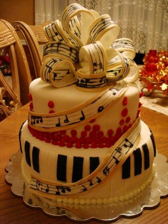 14 best Music cake images on Pinterest Music birthday cakes Music