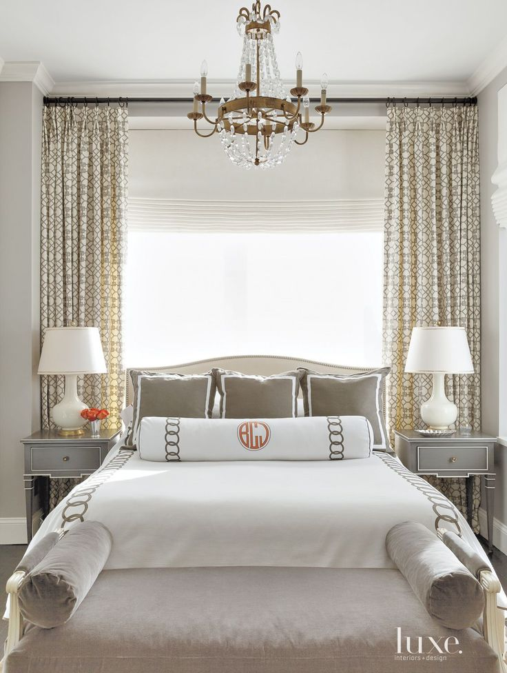 The Luxe Lifestyle Master Bedroom Reveal: Eclectic Neutral Bedroom With Gray Bedside Tables