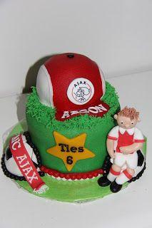 lekker zoet: Ajax taart voor Ties 6 jaar