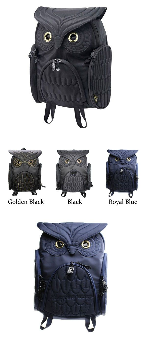 Fashion Street Cool Owl Shape Solid Computer Backpack School Bag Travel Bag only…