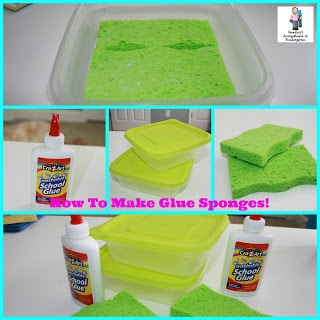 A Kindergarten Smorgasboard How To Video:  GLUE SPONGES!  A short video tutorial on how to make glue sponges for your classroom!  DEFEAT THE GLUE!