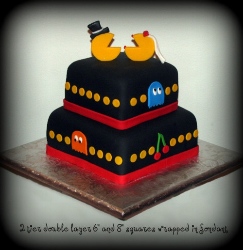 @Christina & Paul I think you should throw an engagement party just so we can make a Mr and Mrs Pacman cake!