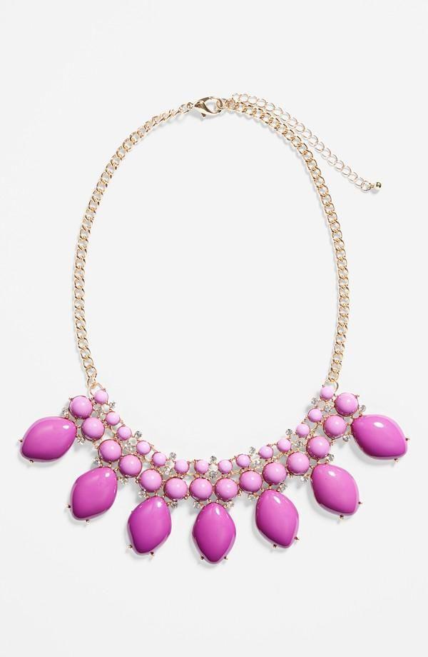 Prom fashion - Pretty purple statement necklace.