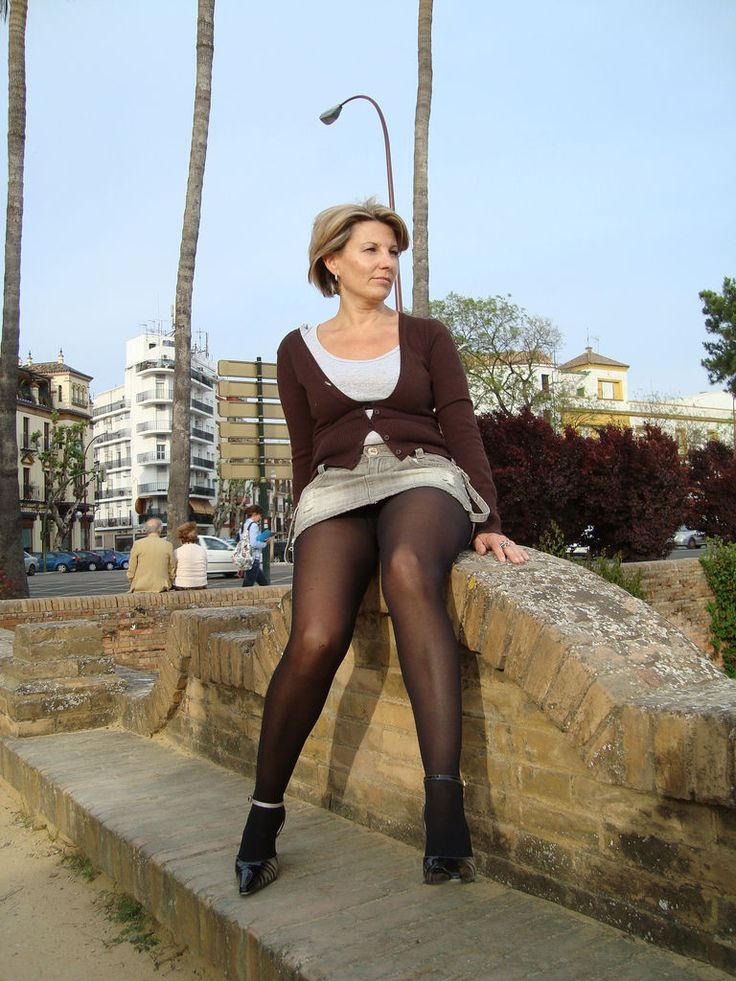 Woman In Pantyhose Outdoors - More Pictures Here Http -9881
