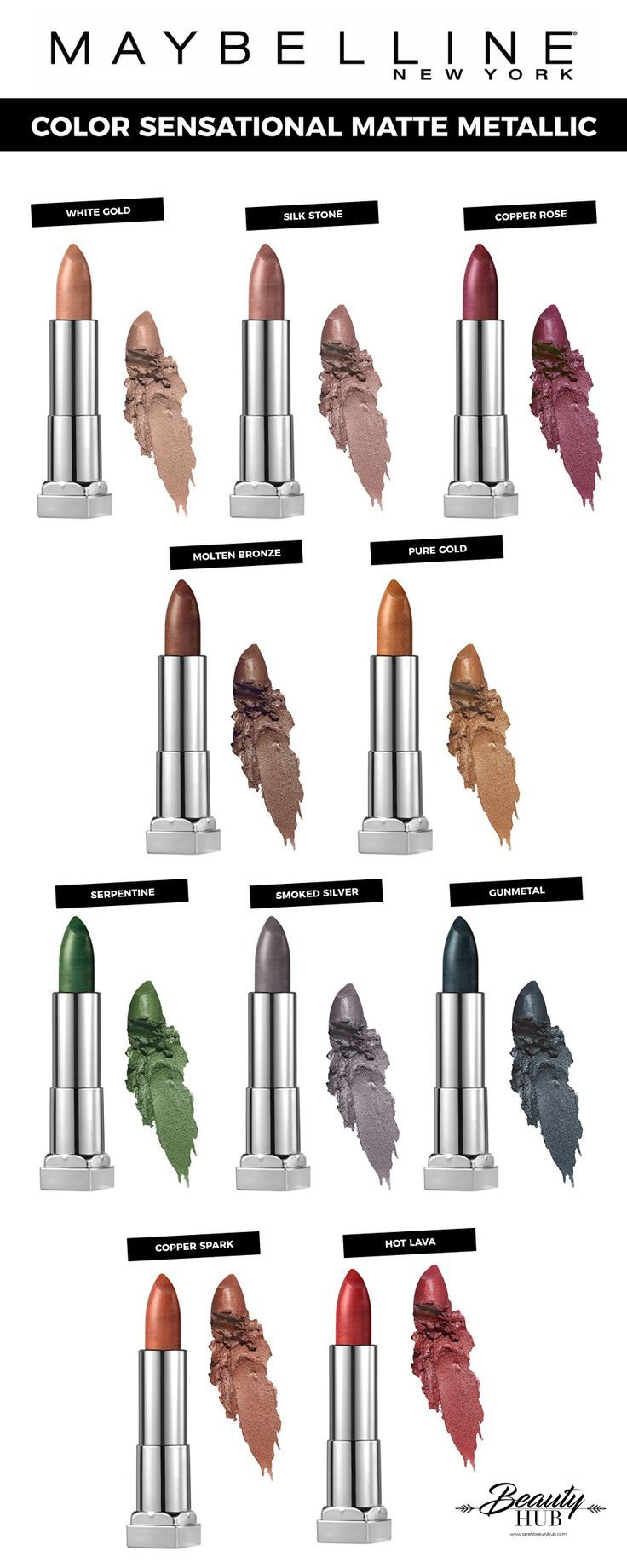 #Maybelline Color Sensational #Matte #Metallic >><< #MyLifeAsARockstar #lipstick #beauty