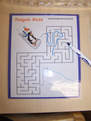 Penguin maze activity