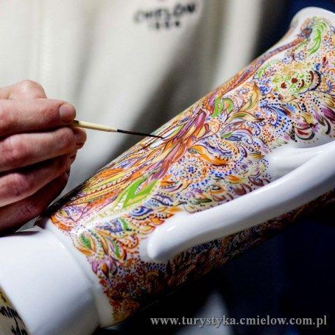 Żywe Muzeum Porcelany - pokaz malowania oporcelany