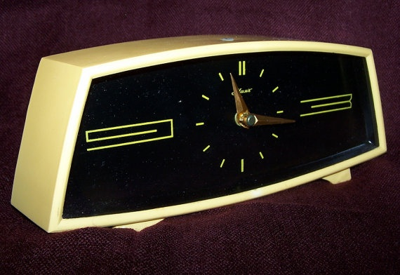 Vintage Soviet Mechanical Deck Clock MAJAK USSR by RarityFromAfar, $34.99