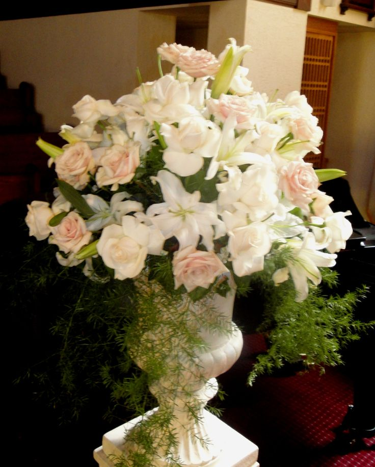 Church Altar Wedding Flower Arrangements: 17 Best Images About Church Pew Flowers On Pinterest
