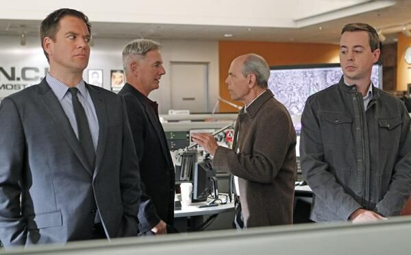"Pit Boss in ""Devil's Triad"" Season 11 Episode 10  Complications arise when the NCIS team discovers a link between a murder victim and the current boyfriend of Gibbs and Agent Fornell's ex-wife. Meanwhile, NSA Analyst Ellie Bishop adjusts to joining the NCIS team, on NCIS, Tuesday, Dec. 10 on the CBS Television Network. Pictured left to right: Michael Weatherly, Mark Harmon, Joe Spano and Sean Murray Photo: Sonja Flemming/CBS ©2013 CBS Broadcasting, Inc. All Rights Reserved."