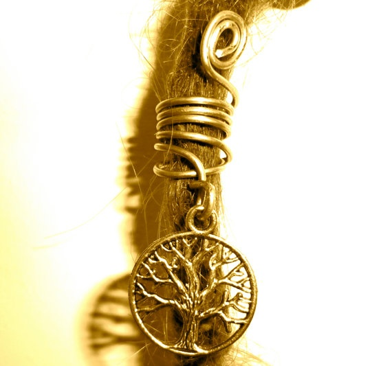 tree of life  dreadlock bead. :: Shop DreadStop.Com for Leather Dreadlock Cuffs, Ties  Dread Beads #dreadstop
