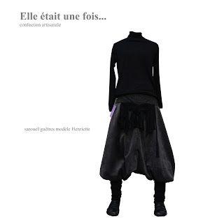 Elle était une fois... confection artisanale France: Sarouel/guêtres modèle Henriette