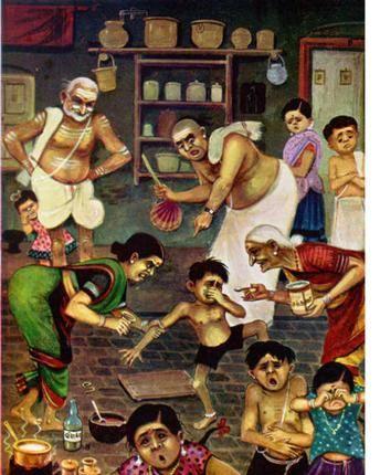 deepavali abyanjana or oil bath.