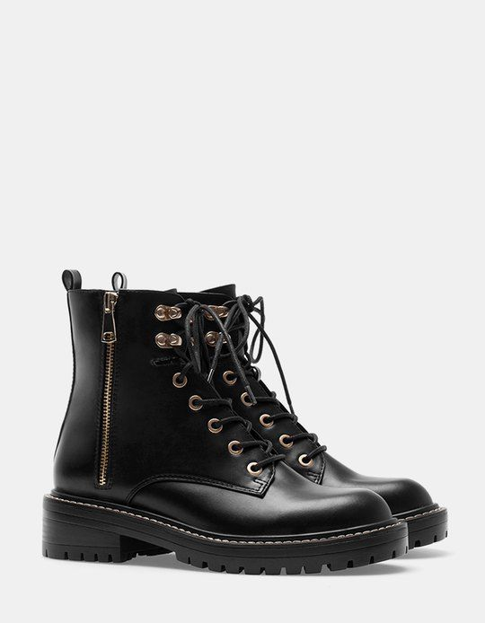 At Stradivarius you'll find 1 Lace up ankle boots for woman for just 4990 Serbia . Visit now to discover this and more BOOTS AND ANKLE BOOTS.