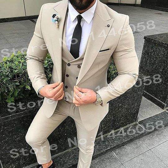 Moda Fashion Store Men Wedding Suits 2018 New Brand Design Real Groomsmen White …