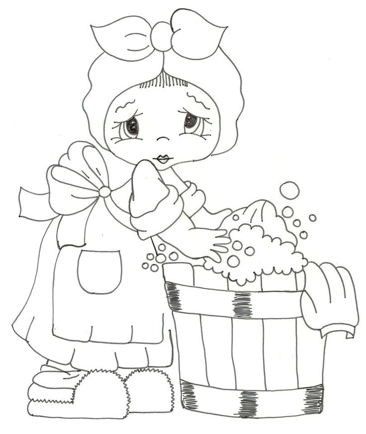 niña lavandera