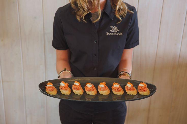 Aoraki Salmon en croute with horseradish fraiche & Ōra King salmon caviar. Photo credit - Candy Capco Photography