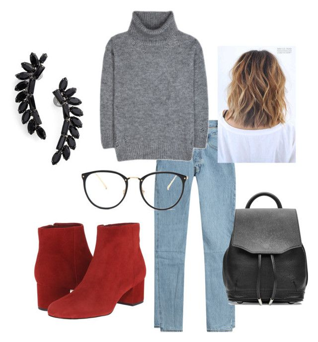"""Untitled #30"" by manjap on Polyvore featuring Vetements, Yves Saint Laurent, Sam Edelman, rag & bone, Linda Farrow and Cristabelle"