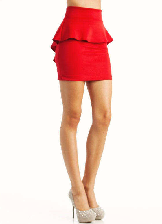 red peplum skirt #lulusholiday