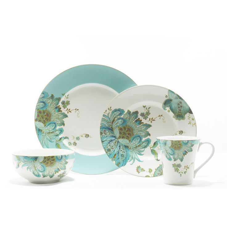 222 fifth eliza spring 16 piece dinnerware set 6535 for 222 fifth dinnerware