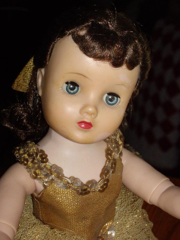 """Beautiful Vintage Madame Alexander BRUNETTE16"""" ELISE GOLDEN BALLERINA"""