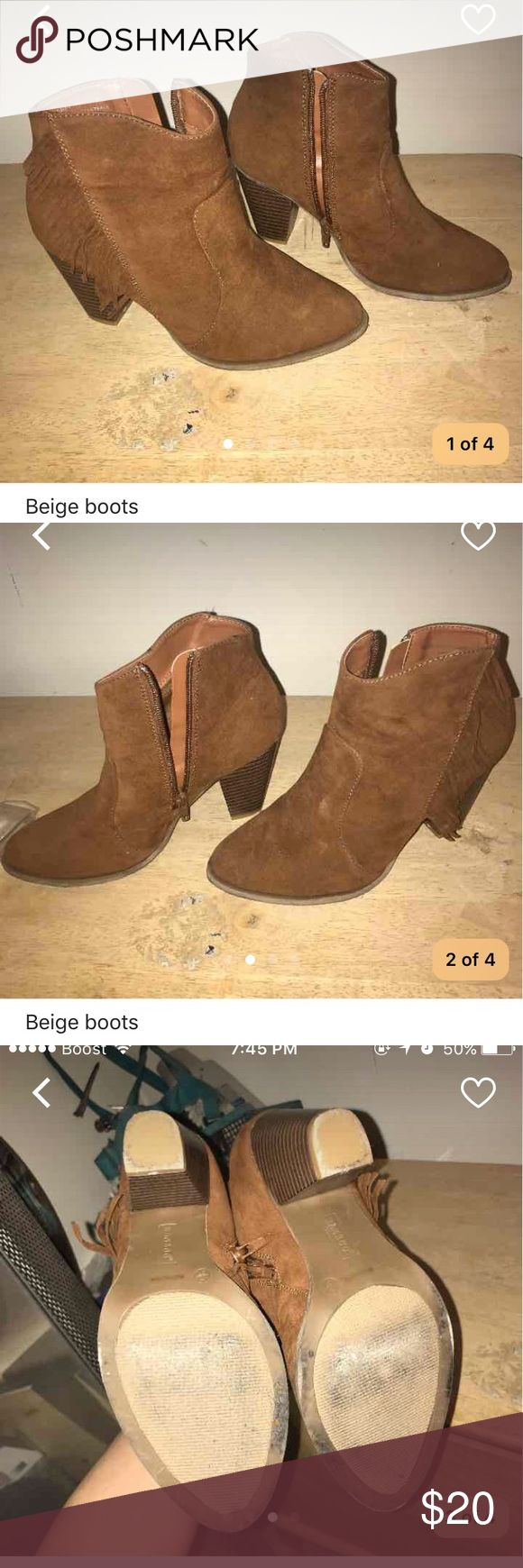 Agaci beige boots. Size 7 worn once or twice a'gaci Shoes Ankle Boots & Booties