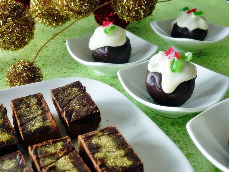 Christmas Cake and Christmas Mince Truffles