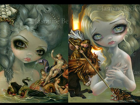 Tableaux Vivants I and II Set of TWO 8x10 art prints by Jasmine Becket-Griffith SIGNED