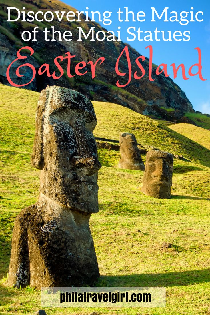 Discovering the Magic of the Moai statues on Easter Island. The Moai of Easter Island were primarily made from the mountain rock to represent ancestors of the Easter Island tribes, obviously with some creative license. The Moai were moved to the various locations along the coast of Easter Island and then arranged on their alters to protect the people. There is something magical about being in the presence of the Moai, click through to read about my experience. | PhilaTravelGirl #easterisland