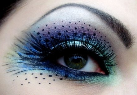 love this!Costumes Makeup, Eye Makeup, Eye Shadows, Halloween Makeup, Makeup Ideas, Eyemakeup, Eyeshadows, Eye Art, Peacocks Feathers