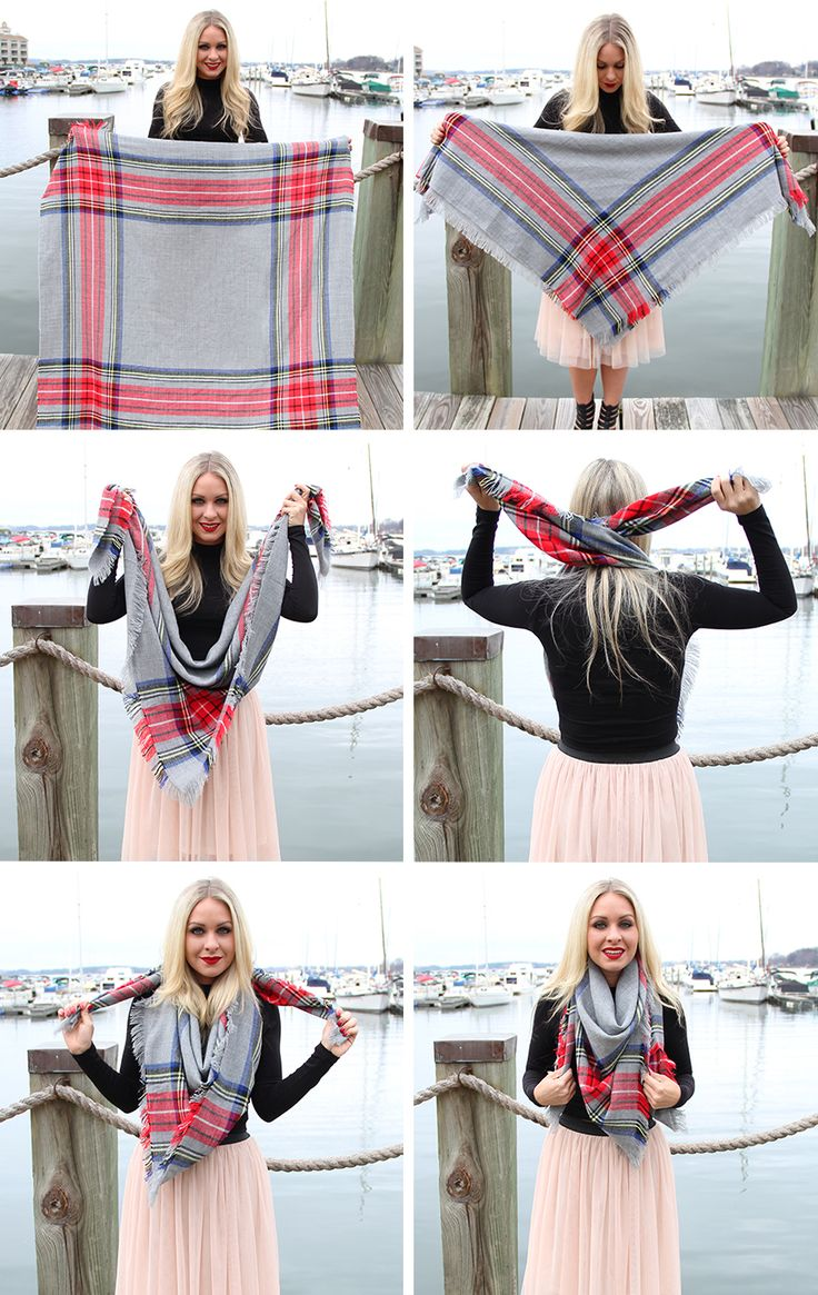 seen those ridiculously expensive blanket scarves in online boutiques? Cheap, yet ADORABLE DIY version--go to fabric store, find flannel fabric of your choice, purchase 1-2 yards...cut it in a square shape... fray it... wear it... I guarantee it will be less than half price of what you saw the boutique version to be...