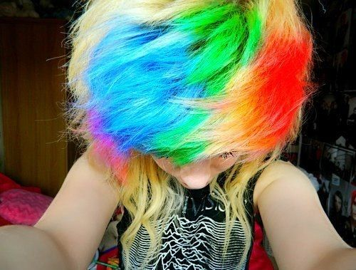 1000 Ideas About Rainbow Dyed Hair On Pinterest Dyed