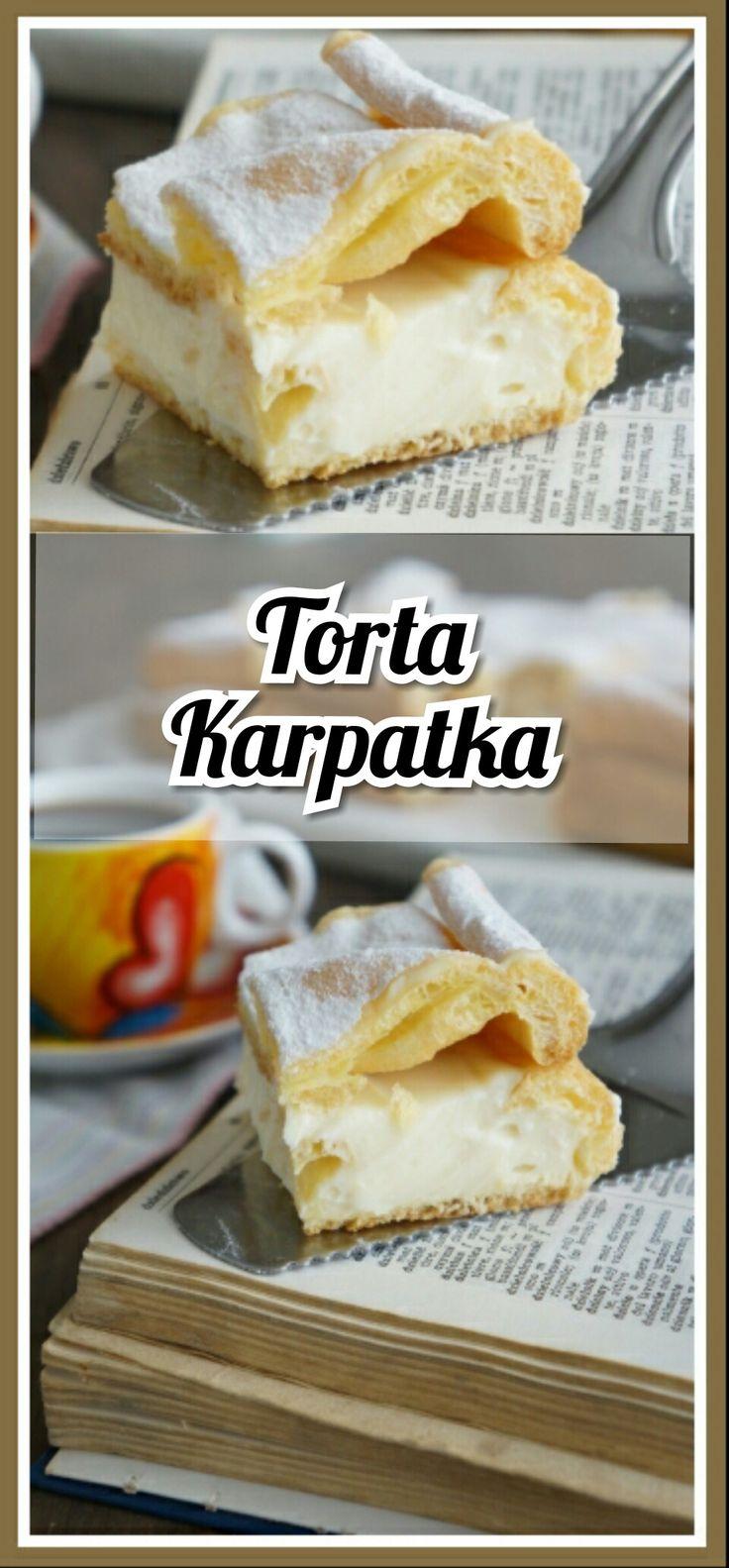Torta Karpatka è fatta di impasto scottato, che cresce splendidamente, creando alte montagne con mezzo lo stratto di massa al budino... Leggi la ricetta ⤵ ⤵ ⤵ ⤵ ⤵ http://blog.giallozafferano.it/mille1ricette/torta-karpatka/