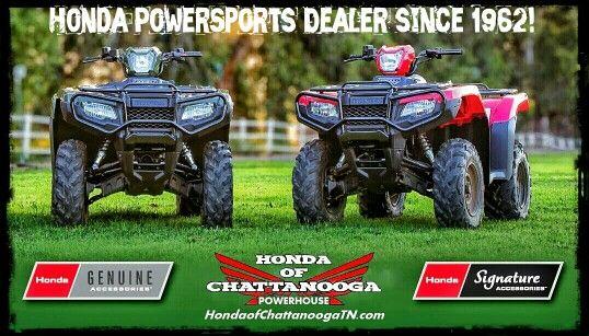 Chattanooga TN Honda ATV Dealer : Honda of Chattanooga. TN / GA / AL area Honda PowerSports Dealer offering Discount prices since 1962!  Check out our wholesale Honda ATV / Four Wheeler Prices at www.HondaofChattanoogaTN.com