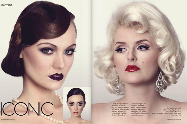 Hair: Court Sobko & Thelma Bento Makeup: Katie Foster Models: Simone, Gabby & December Photographer: Matea Testa For: Canadian Hairdresser Magazine