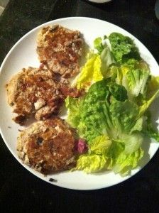 Tuna & Salad Burgers - 200 Calories (serves 1)