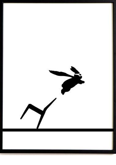Super Hero Rabbit print