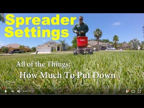 [vid_player   In this video we cover: How much fertilizer to put down What spreader settings to use (how to know) How to Actually Apply lawn fertilizer Spreader I use, …