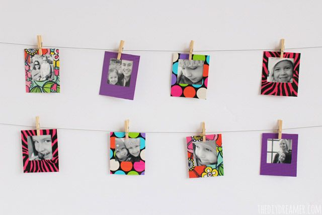 Duck Tape® Mini Instant Photo Frames Tutorial
