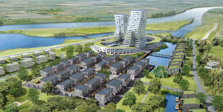 Ontwikkelingscompetitie voor Park Zandweerd te Deventer (450 woningen), i.s.m. Mecanoo en i.o.v. ING Real Estate (2008)