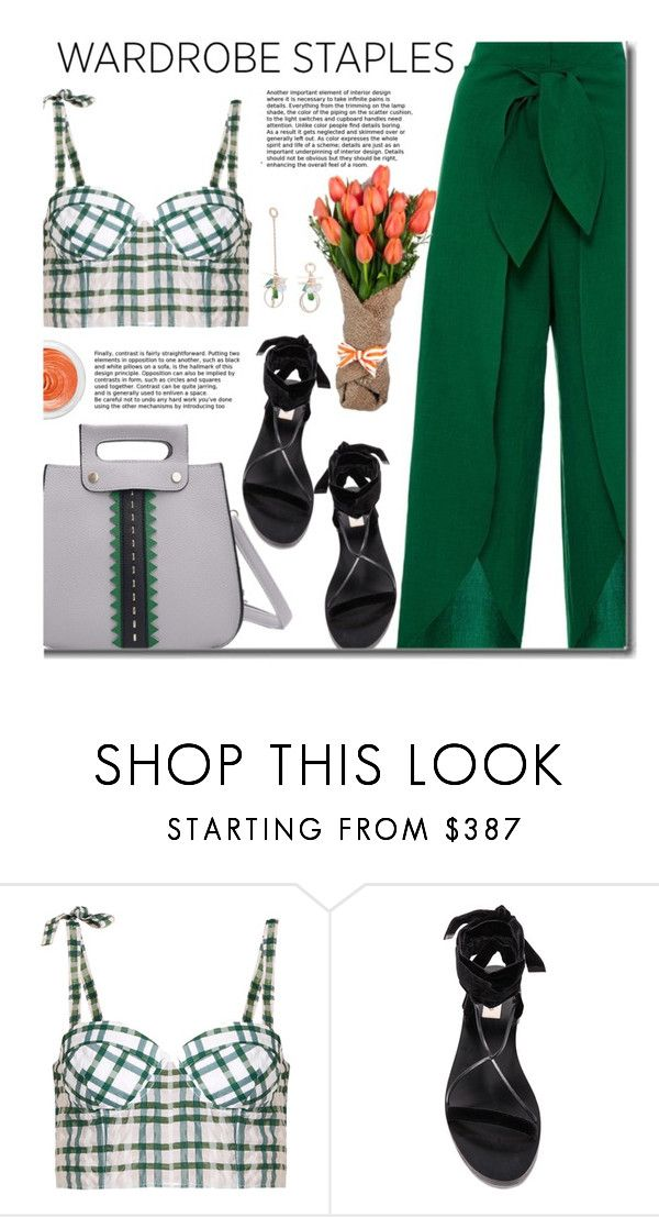 """""""Tried and True: Summer Wardrobe Staples"""" by beebeely-look ❤ liked on Polyvore featuring Rosie Assoulin, 3ina, sammydress, streetwear, heatwave, StreetChic and WardrobeStaples"""
