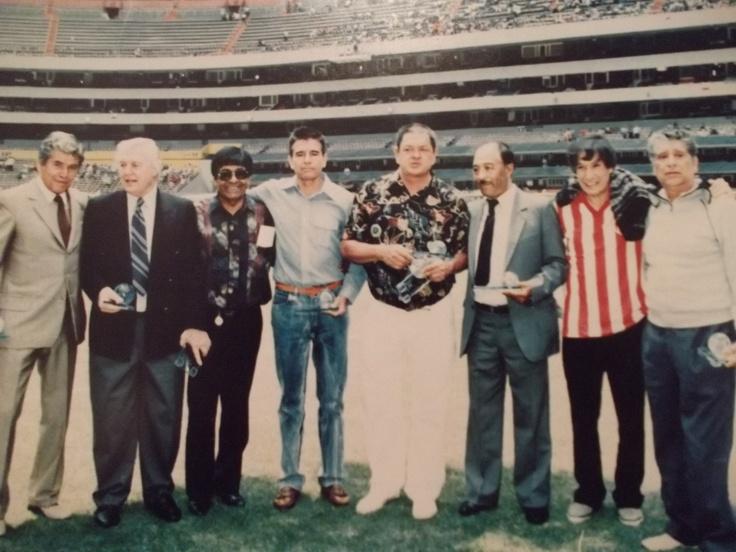 """Guero"" Jasso, Reynaldo Giacomini, ""El Morocho"" Dante Juarez, Jaime ""Cordobes"" Garcia, Guillermo ""Chatito"" Ortiz, Toño ""El Negro"" Munguia y Raul ""Cora"" Isiordia"