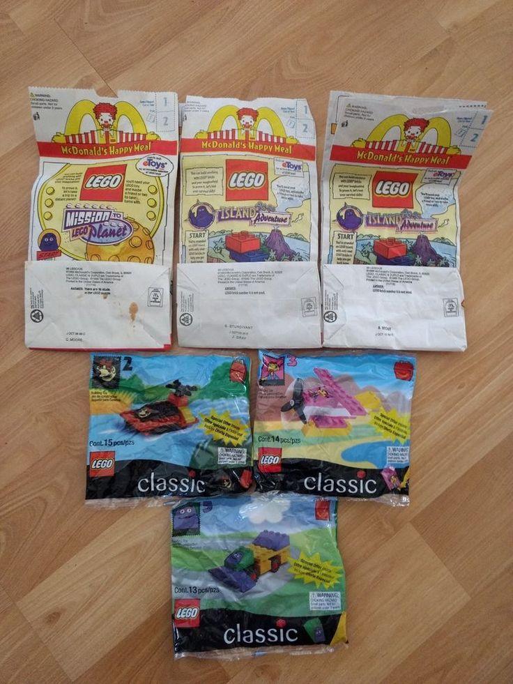 LEGO CLASSIC BUILDING TOYS~1999 McDonald Toy #2 #3 #5 W/Original Paper Bag #McDonalds