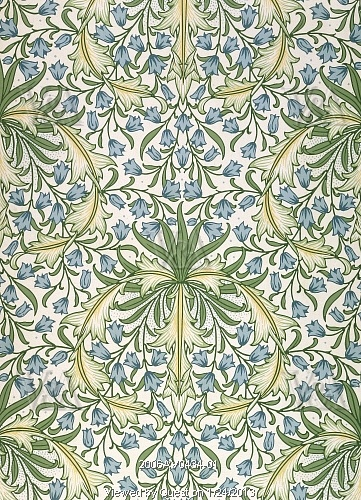 Image of hareball wallpaper, by william morris. england, late 19th century by V Images
