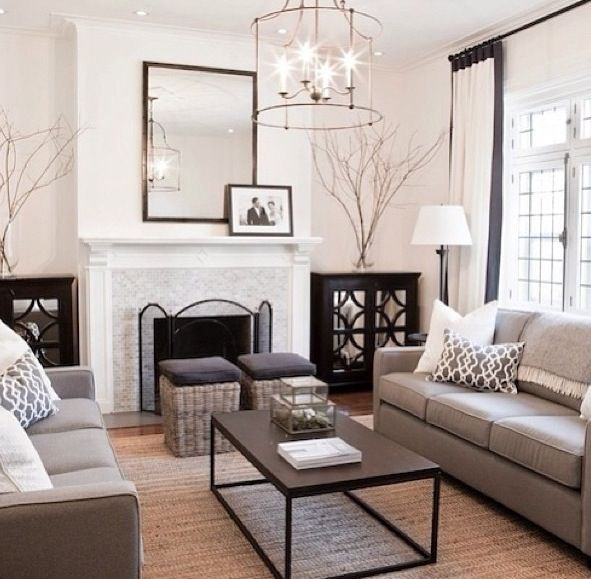 Examples Of Living Room Decor 19 best living room decor layout ideas images on pinterest home neutral living room chandelier brass framed mirror above fireplace sisterspd