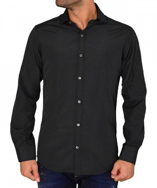 4dbe33429140 Ανδρικό πουκάμισο Gio.S μαύρο πουά 9550W17C  ανδρικάπουκάμισα  ρούχα  στυλ   ντύσιμο